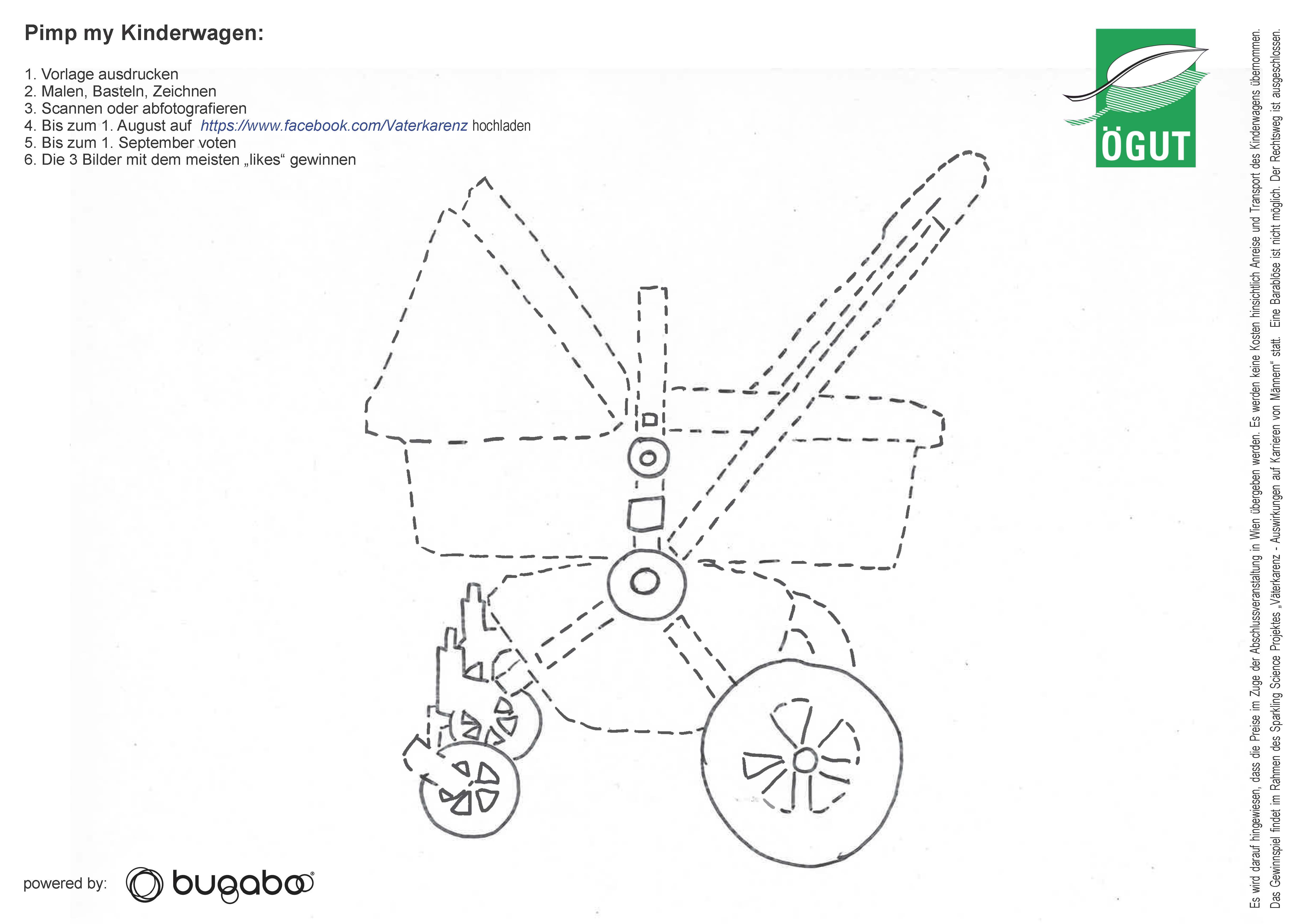 Kinderwagenvorlage Bugaboo gewinnen